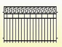 Металлические заборы вариант №21