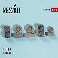"Lockheed F-117 ""Nighthawk"" wheels set 1/48  RES/KIT 48-0016"