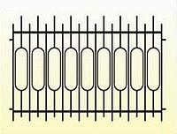 Металлические заборы вариант №24