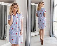 """Платье больших размеров """" Полоска """" Dress Code, фото 1"""