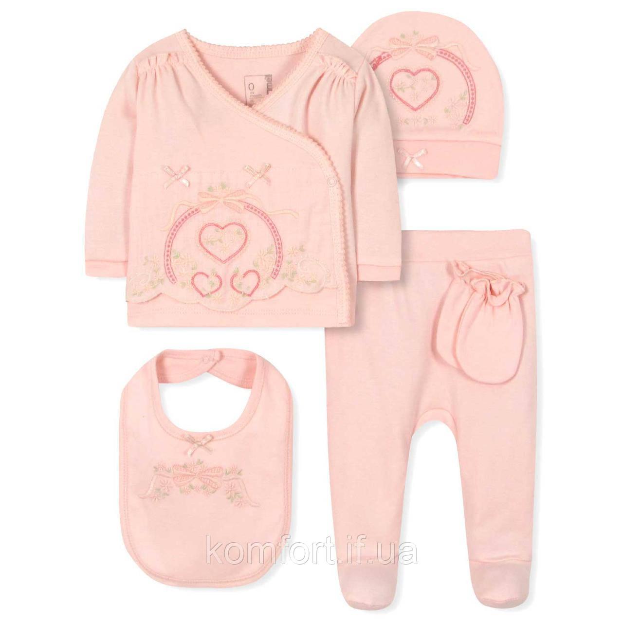 Комплект 5 в 1 для новорожденной девочки Caramell (44-50)