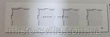 Рамка 4-х местная горизонтальная белый Viko Karre Карэ
