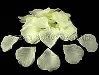Лепестки роз искусственные (упаковка 100 шт) Цвет - светло-желтый