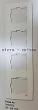 Рамка 4-х местная вертикальная белый Viko Karre Карэ