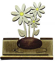 """Деревянная открытка """"Цветы в вазе"""""""