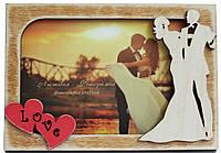 """Деревянная открытка-фоторамка """"Love Story"""" для влюбленных"""