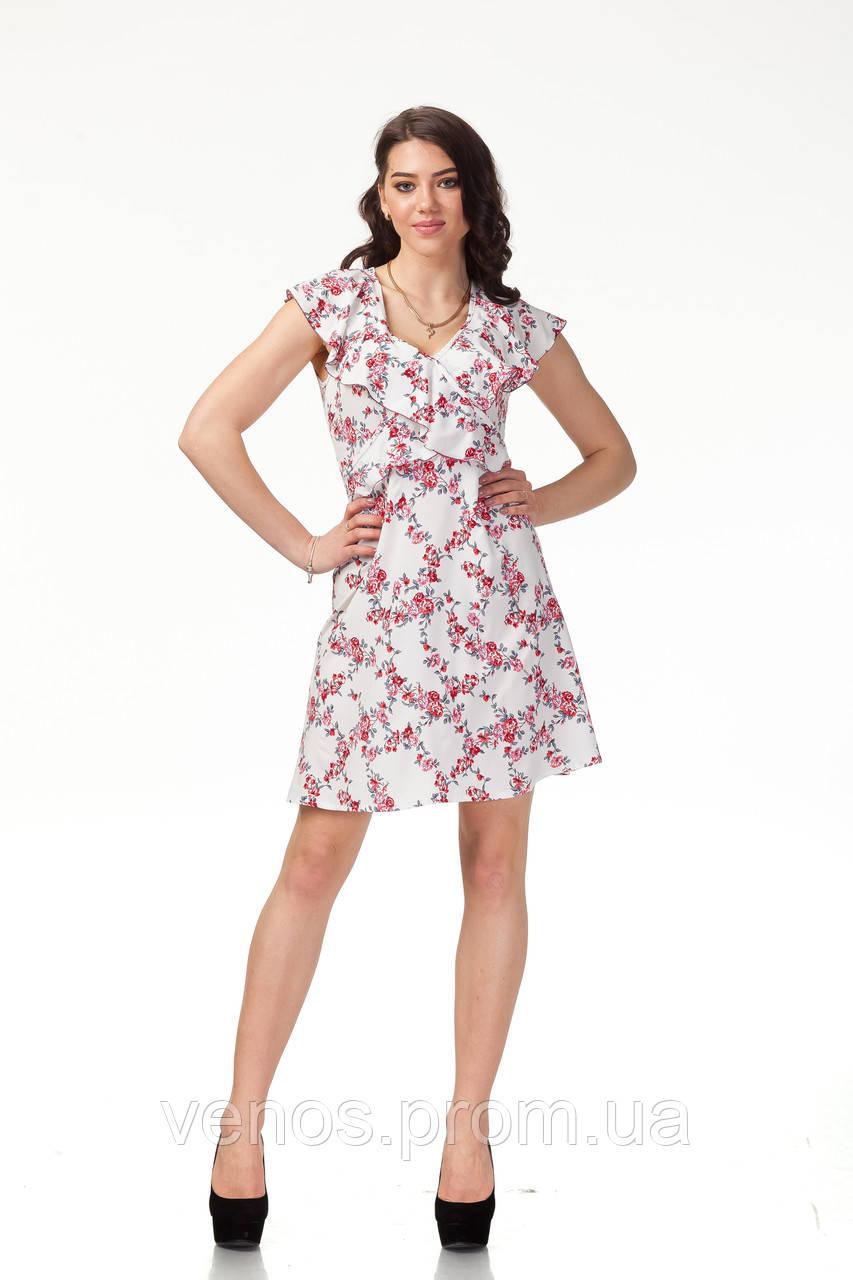 Нежное цветочное летнее платье П113