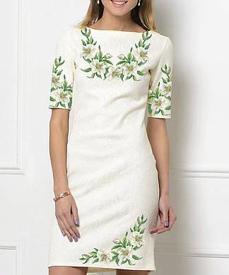 Заготовка женского платья для вышивки / вышивания бисером / ниткой «Лілії 138»