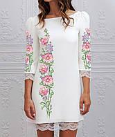Заготовка женского платья для вышивки   вышивания бисером   ниткой «Рожева  півонія» e513cf8e36ed3