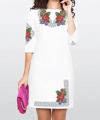 Заготовка женского платья для вышивки / вышивания бисером / ниткой «Барви літа» Рукав по низу