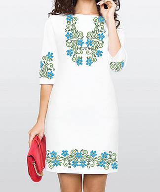 Заготовка женского платья для вышивки / вышивания бисером / ниткой «Барвінок»