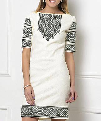 Заготовка женского платья для вышивки / вышивания бисером / ниткой «Монохром 76»
