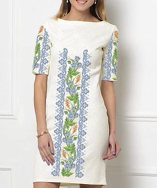 Заготовка женского платья для вышивки / вышивания бисером / ниткой «Волошка в орнаменті»