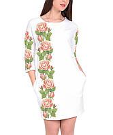 Заготовка женского платья для вышивки   вышивания бисером   ниткой «Ніжні  троянди» 4eee838ef363b