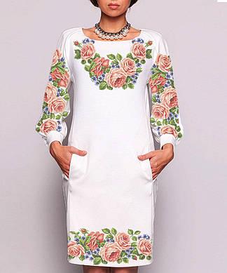 Заготовка женского платья для вышивки / вышивания бисером / ниткой «Квітковий розмай»