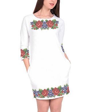 Заготовка женского платья для вышивки / вышивания бисером / ниткой «Летний вечер 75»