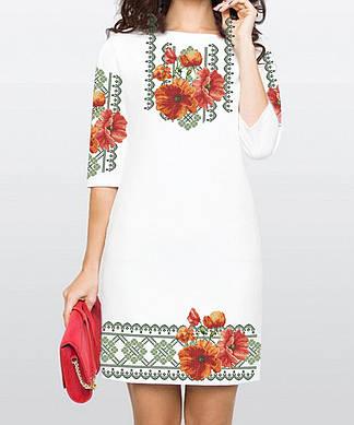Заготовка женского платья для вышивки / вышивания бисером / ниткой  «Чари квітів»