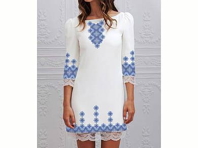 Заготовка женского платья для вышивки / вышивания бисером / ниткой «Гармонія»
