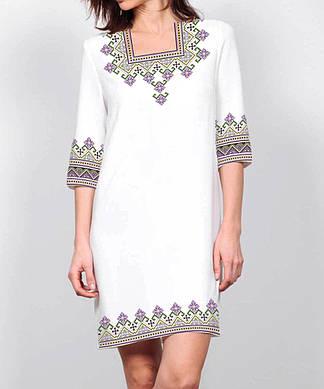 Заготовка женского платья для вышивки / вышивания бисером / ниткой «Світанкове»