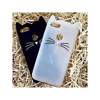 Чехол Кот для Xiaomi Redmi 5Х / А1, белый перламутровый