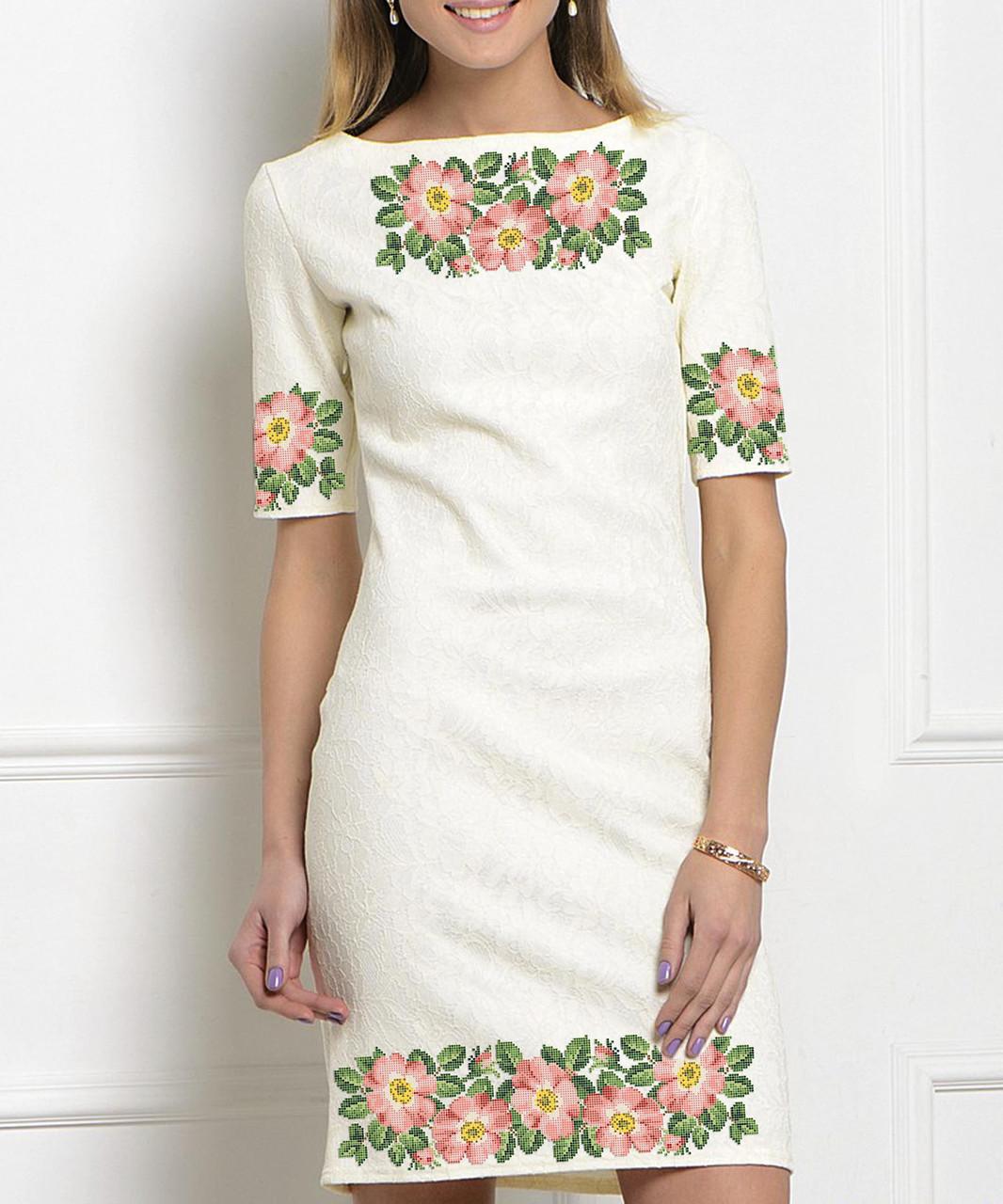 Заготовка женского платья для вышивки / вышивания бисером / ниткой «Шипшина»