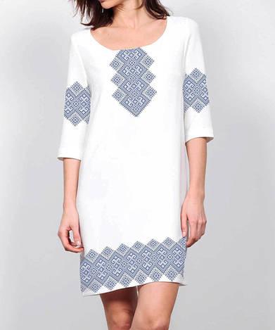 Заготовка женского платья для вышивки / вышивания бисером / ниткой «Орнамент»