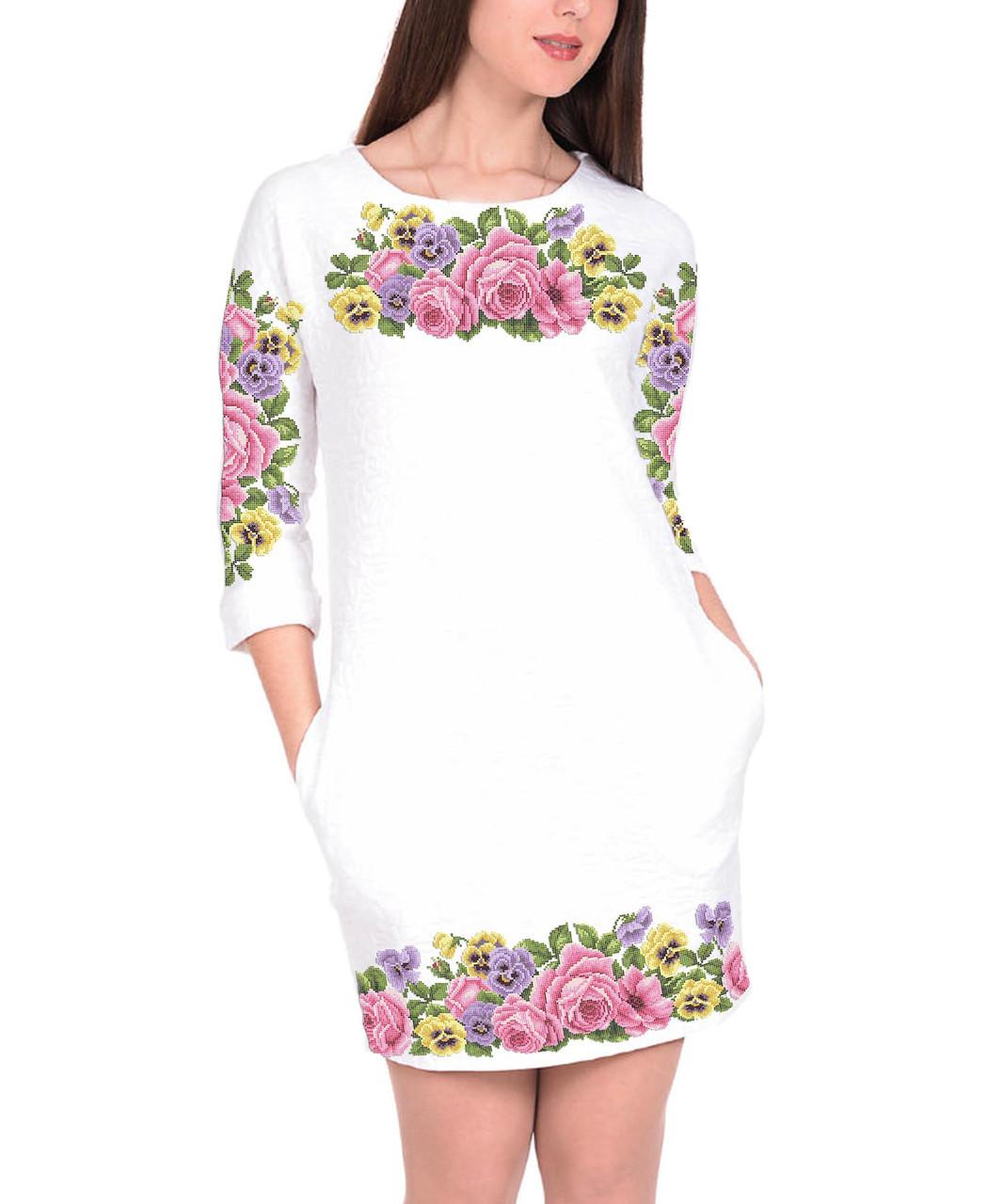 Заготовка женского платья для вышивки / вышивания бисером / ниткой «Квіткова симфонія»