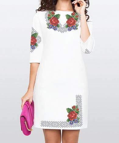 Заготовка женского платья для вышивки / вышивания бисером / ниткой «Барви Літа»