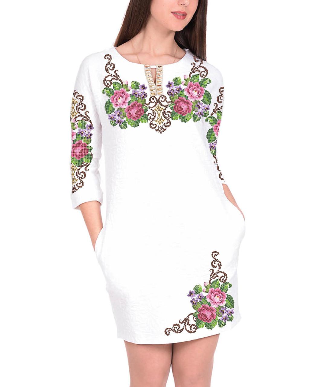Заготовка женского платья для вышивки / вышивания бисером / ниткой «Королева квітів»