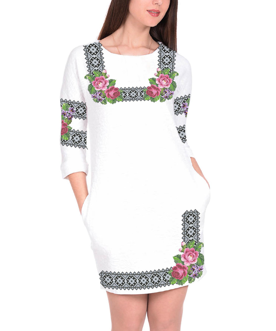 Заготовка женского платья для вышивки / вышивания бисером / ниткой «Святкове»