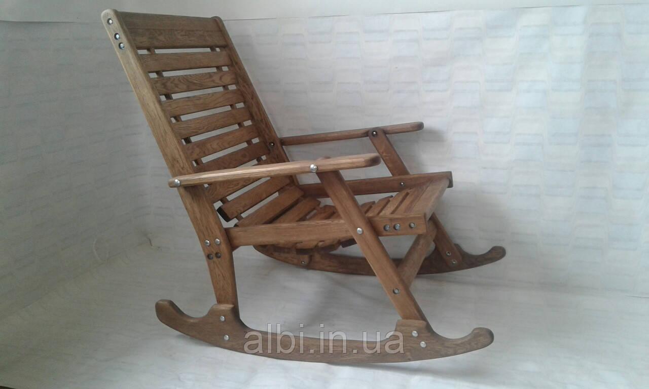 Крісло-качалка з дуба