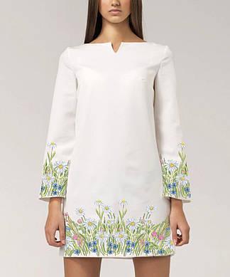 Заготовка женского платья для вышивки / вышивания бисером / ниткой «Поле ромашок»