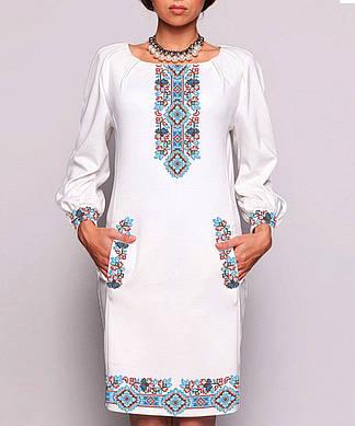 Заготовка женского платья для вышивки / вышивания бисером / ниткой «Оберіг»