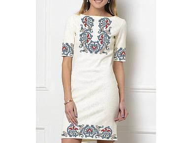 Заготовка женского платья для вышивки / вышивания бисером / ниткой «Загадка»