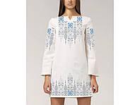 Заготовка женского платья для вышивки / вышивания бисером / ниткой «Флірт світле»
