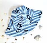 Головной убор для мальчиков. Панамка Сашка Размер 54 Звезды Голубой Бабасик Украина, фото 3