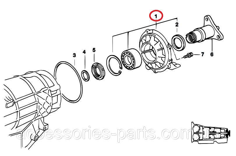 Задняя крышка коробки передач BMW E32/  E34/  E31
