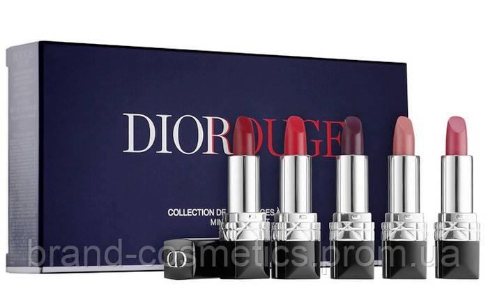 Набор  помад Dior Rouge Dior Mini Lipstick Set Holiday