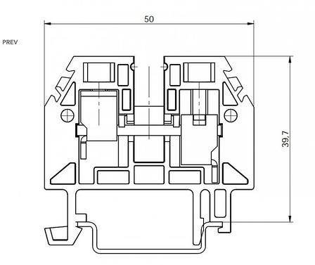Клема гвинтова RSA 10 A синя (A151131), фото 2