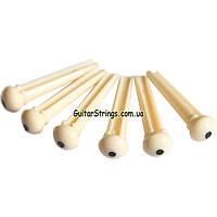 Колышки для акустической гитары набор из 6шт. Bone