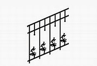 Металлические лестницы и ограждения вариант №16
