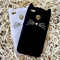 Чехол Кот для Xiaomi Redmi 4Х, Котик чёрный