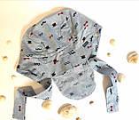 """Головной убор для малышей Бандана Ник Размер 52-54 """"Усы"""" Голубой Хлопок Бабасик Украина, фото 2"""