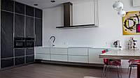 Дизайнерская кухня в современном стиле шпон