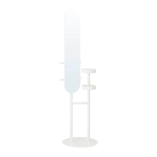 Вешалка для одежды с зеркалом IKEA LIERSKOGEN 185 см белая 503.308.66