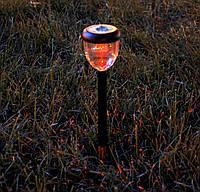 Садовый светильник разноцветный на солнечных батареях  Wolta Strawberry , фото 1