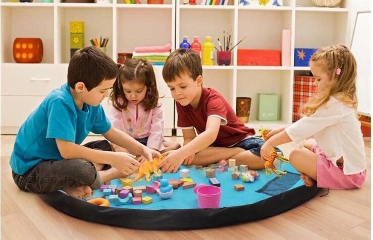 Портативная сумка-коврик для игры и хранения игрушек, 120 см ( сумка коврик органайзер )