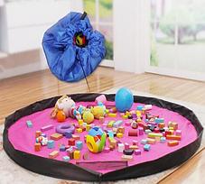 Портативная сумка-коврик для игры и хранения игрушек, 120 см ( сумка коврик органайзер ), фото 2