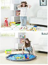 Портативная сумка-коврик для игры и хранения игрушек, 120 см ( сумка коврик органайзер ), фото 3