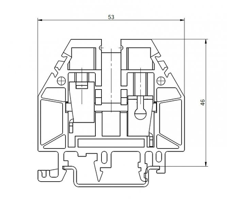 Клемма винтовая RSA 16 A синяя (A161136), фото 2